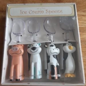 Set of ice cream Spoons